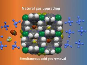 Kristalle, die Erdgas reinigen