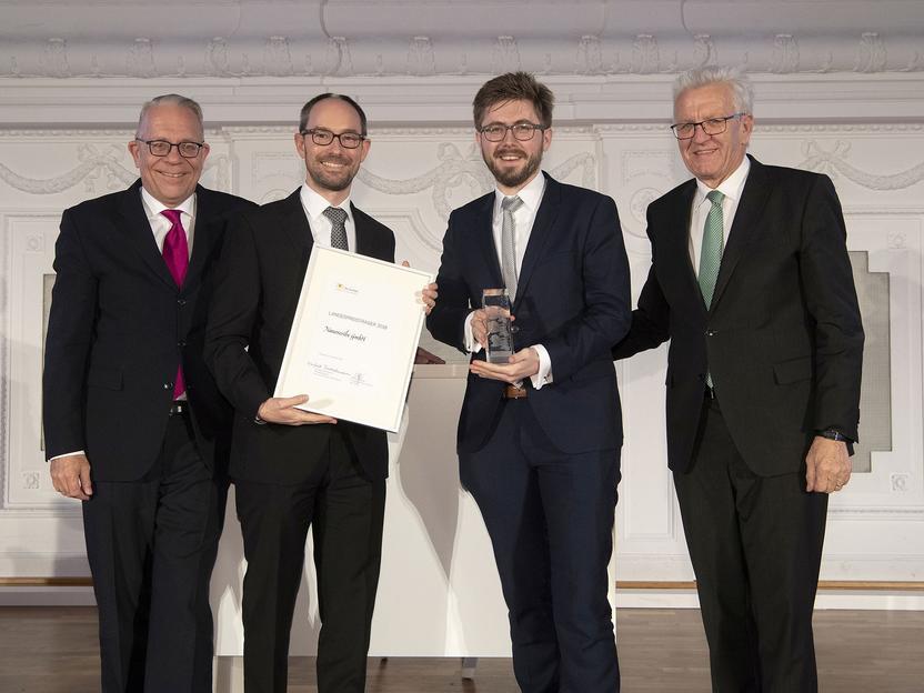 Nanoscribe erhält Auszeichnung für revolutionäres 3-D-Laserdruckverfahren