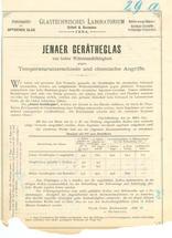 Markteinführung: 1893 erschien der erste Prospekt über Laborglas aus Borosilikatglas von Schott