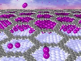 Soft decoupling of organic molecules on metal