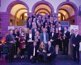 Sarah Wiener und 34 Marken im Senckenberg Naturmuseum in Frankfurt zu den GREEN BRANDS Germany 2015 ausgezeichnet.