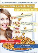 Frauen lecken sich die Finger nach Pommes frites / Deutschlands erste Pommes frites Umfrage!