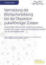 Vermeidung der Klümpchenbildung bei der Dispersion pulverförmiger Zutaten