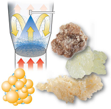Agglomeration of powders to improve solubility and fixate mixtures