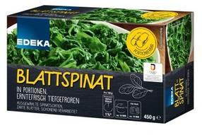 """""""EDEKA Blattspinat portioniert"""" (Tiefkühl), 450-Gramm-Faltschachtel"""