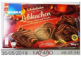 """Rückruf:""""EDEKA Schokoladen Lebkuchen, Herzen, Sterne und Brezeln Zartbitter"""""""