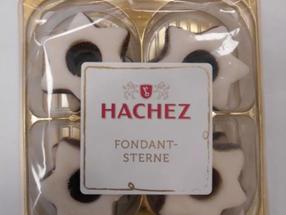 """Die Bremer HACHEZ Chocolade GmbH & Co. KG ruft aus Gründen des vorbeugenden Verbraucherschutzes den Artikel """"HACHEZ Fondantsterne"""" (Inhalt: 100g) zurück"""