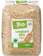 """dm ruft aus Gründen des vorbeugenden Verbraucherschutzes den Artikel """" dmBio Langkorn Reis Natur """""""
