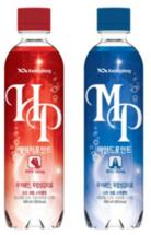 Kwangdong Pharmaceutical Low Calorie HP and MP Soft Drinks, South Korea This range of soft drinks features the popular League of Legends Game Champions Korea logo. Part of a campaign to reduce sugar consumption among young South Koreans, some of the ingredients found in these drinks are known to either support neurological development or have relaxing and rejuvenating effects.
