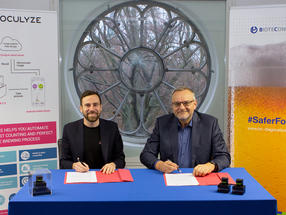 Seen in the picture from left to right is Kilian Moser, co-founder and Chief Executive Officer of Oculyze and Alois Schneiderbauer, Chief Business Officer of BIOTECON Diagnostics