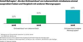 Kunden testen den Lebensmitteleinkauf im Internet