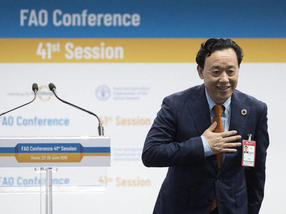 Qu Dongyu of China elected FAO Director-General