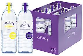 Die neue 0,5 Liter Glas-Mehrwegflasche in der 8x0,5 Liter Kiste aus 100 % Recyclingmaterial