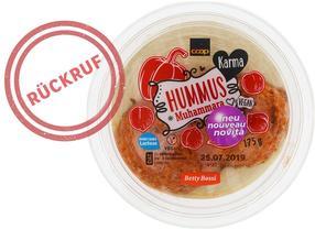 Coop ruft Karma Hummus Muhammara 175 g zurück