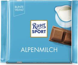 Eine der Besten. Ritter Sport Alpenmilch glänzt bei Ökotest.