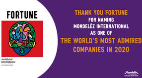 MDLZ recognized as one of the most reputable companies in the world