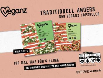 Veganz bringt weltweit erste Pizzen mit Klimascore auf den Markt