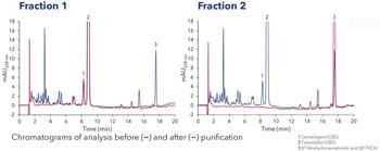 Analytisches Chromatogramm nach der Aufreinigung