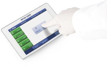 Ein Klick auf dem Touchscreen und die Messung startet