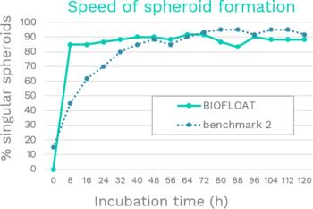 Rapid formation of spheroids already hours after seeding, speeding up your experiment timeline.