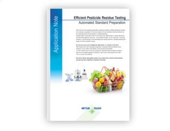 Efficient Pesticide Residue Testing