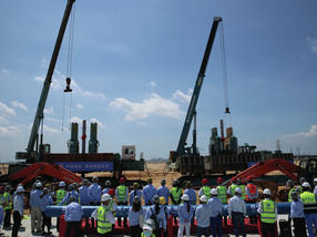 BASF started piling of the first plants of its smart Verbund project in Zhanjiang, Guangdong