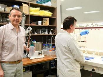 Professor Arduino Mangoni, Head of Clinical Pharmacology at Flinders University, in his research laboratory in South Australia