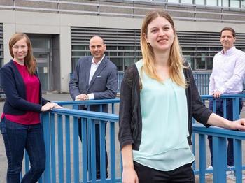 Dr. Janika Viereck, Professor Dr. Dr. Thomas Thum, Anne Bührke und Dr. Christian Bär (von links).