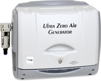 The GT Ultra Zero Air Generator produces synthetic air free of hydrocarbons, CO2, water vapor and CO / SO2 / NOx / O3