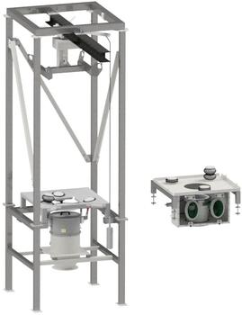 Conversion kit for retrofitting existing big bag emptying stations directly at the operator site