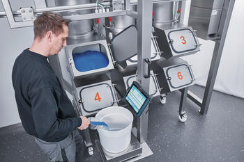 Complete batch tracking with the operator-guided, manual weighing center ManDos