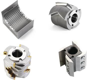 Unterschiedlichster Rotoren mit verschiedenen Messer-Geometrien, austauschbaren Schneiden und praktische Siebkassetten