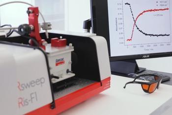 Operando IR-Spektroskopie mit dem IRis-F1 und heizbarer Golden Gate ATR    >440 Spektren / Sekunde Reaktionsverfolgung