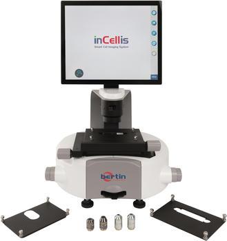 Umfangreiche Auswahl an Objektiven und Probenhaltern für das InCellis.