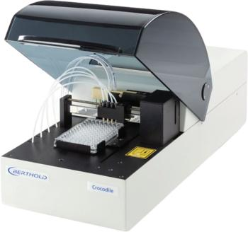 The Crocodile 5-in-One offers the same functionality as five different individual instruments, but requires only the work surface of an ELISA reader