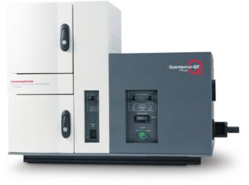 The Quantaurus-QY Plus UV-NIR is a compact spectrometer for measuring photoluminescent materials.