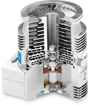 Agilent Twistorr 305 Vakuum turbomolekular pumpe Detail