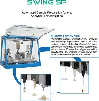 Automated Sample Preparation for e.g.  Analytics, Preformulation