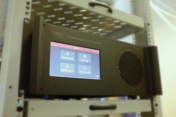 MIRO's Multicompound Gas Analyzer - Mounted in a 19-inch rack