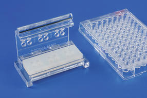 The dimensions, handling, and size are analogous to cell culture plates.