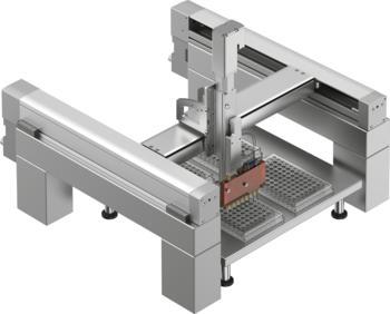 VTOI Dosierkopf montiert an Handling System