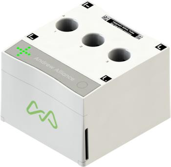 Andrew+ can use a wide range of ontologies in its workspaces through additional connected devices such as this tube Magnet+