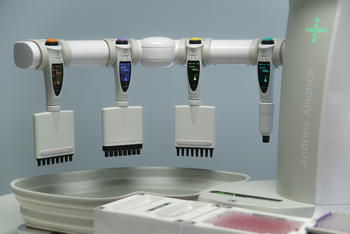 Andrew+ pipetting robot uses market-leading Bluetooth electronic pipettes manufactured by Sartorius