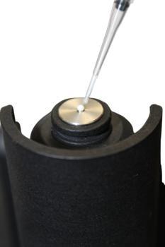 Milchprobe geladen auf ANT Raman Flipper Drop Laboratory