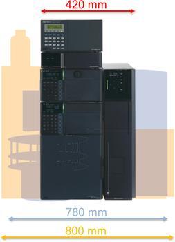 Mit dem platzsparenden Design der Shimadzu IC nutzen auch Sie Ihren begrenzten Laborplatz optimal aus.