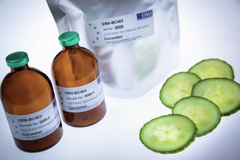 Certified reference material ERM-BC403 for the measurement of pesticides in cucumber