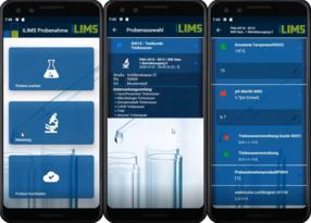 Using the SamplingApp, measured values can be conveniently recorded offline on site and then transferred to the laboratory software