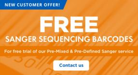 Express Sanger services Pre-Mixed & Pre-Defined Tube – contact us to request free trial barcodes.