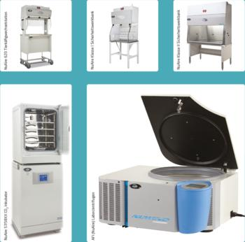 Animal Transfer Stations | Laminar Airflow Workstations | Biological Safety Cabinets | CO2-Incubators | Centrifuges