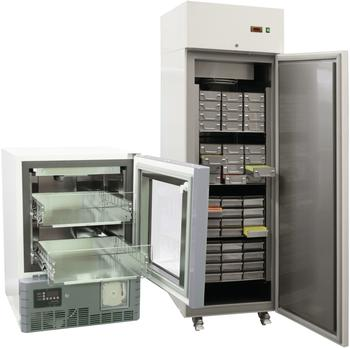 Laborkühl- und Tiefkühlschränke werden nach Anwendungsbereichen getrennt dargestellt.